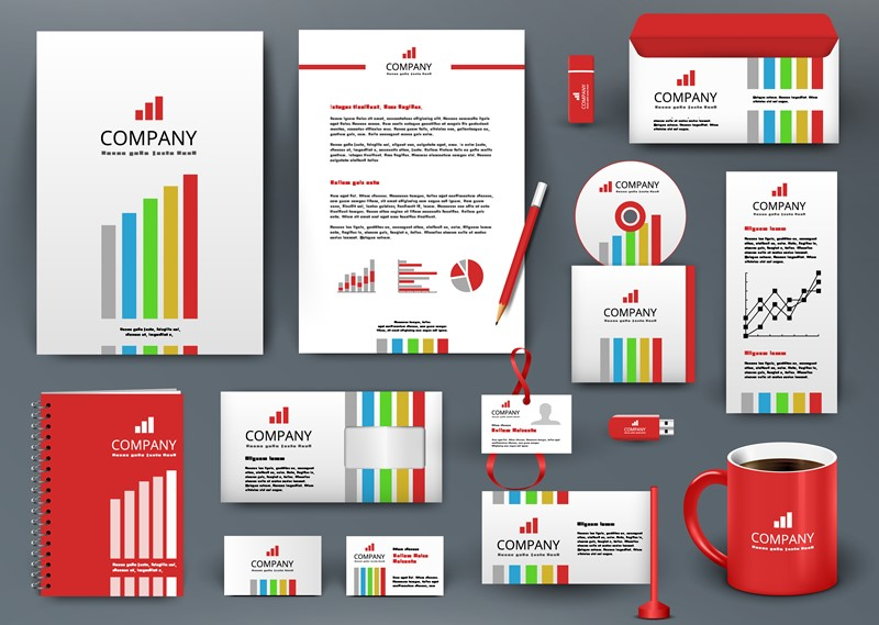 Company information on signs and stationery